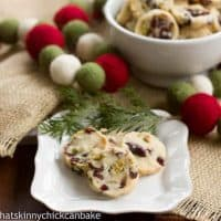 Cranberry Pistachio White Chocolate Shortbread | Perfect for the holidays and more!