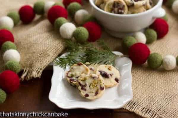 Cranberry, Pistachio, White Chocolate Shortbread