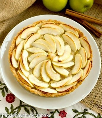 French Apple Tart | An exquisite tart with a double dose of apples from Baking with Julia
