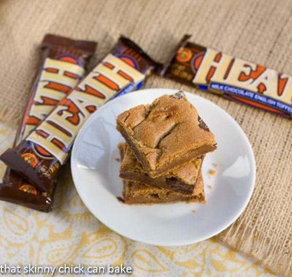 Heath Bar Blondies | That Skinny Chick Can Bake
