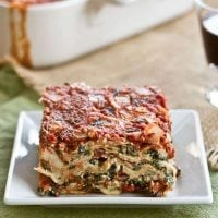 Spinach Lasagna - A hearty, scrumptious pasta dish laden with spinach