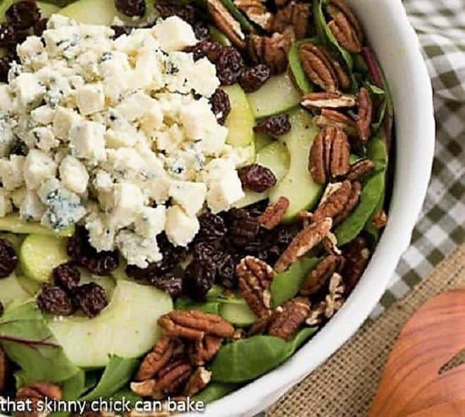 Loaded Winter Salad with Apples, Pecans, Blue Cheese and Dried Cherries