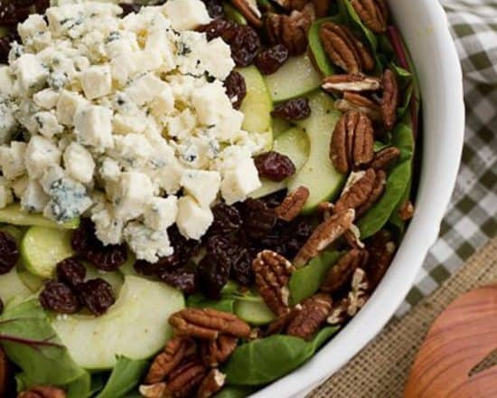 This Winter Salad with Apples, Pecans, Blue Cheese and Dried Cherries will make you forget that the availability of garden tomatoes and lettuces are months and months away!