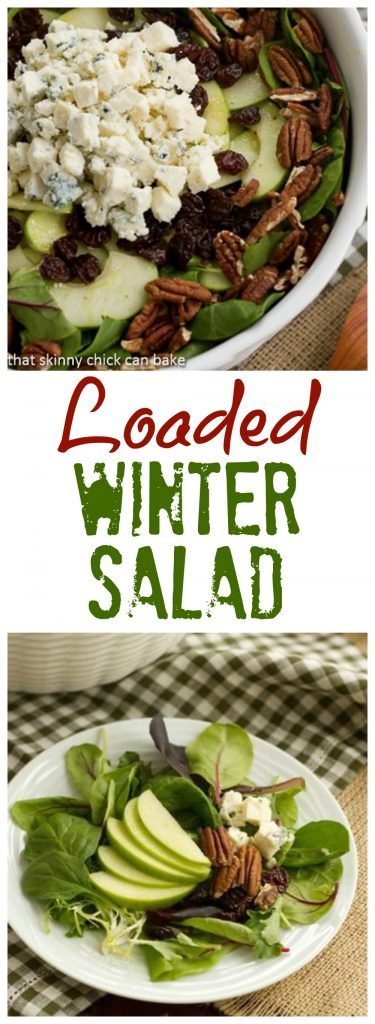 Winter Salad with Apples, Pecans, Blue Cheese and Dried Cherries collage