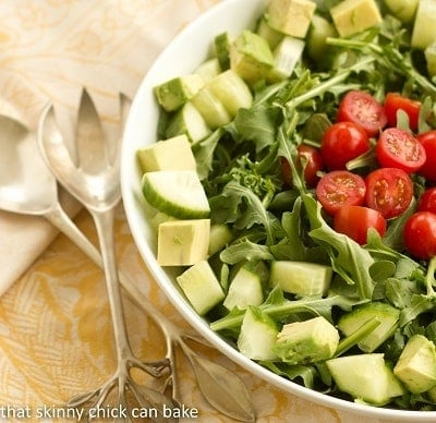 Post image for Maddy's Arugula Salad…#SundaySupper, #SkinnySundaySupper