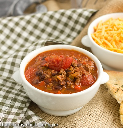 Chili with Black Beans | Perfect dinner on a cold night or for game day!