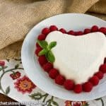 Coeur a la Creme with Raspberry Sauce #SundaySupper, #Valentine'sDay