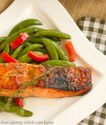 Maple-Mustard Glazed Salmon