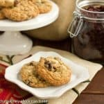 Oatmeal, Dried Cherry and White Chocolate Chunk Cookies #DessertChallenge