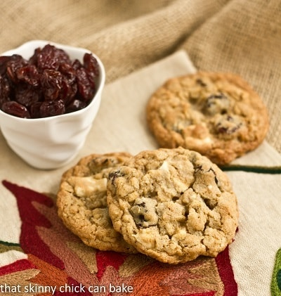 Oatmeal, Dried Cherry and White Chocolate Chunk Cookies # ...
