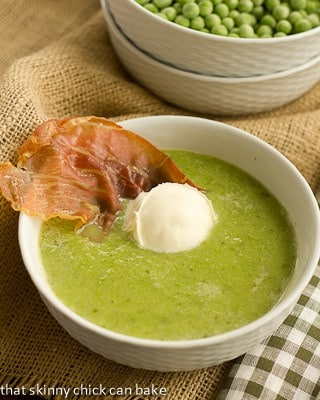 Cheating-on-Winter Pea Soup with Crispy Prosciutto
