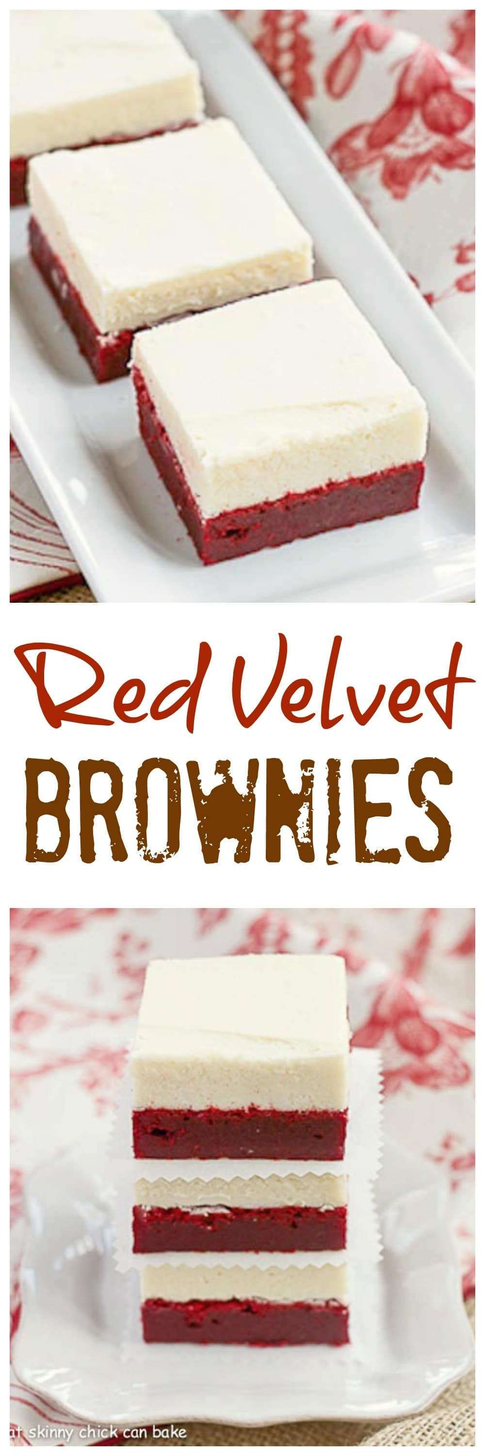Red Velvet Brownies with White Chocolate Icing - Perfect for Valentine's Day or just because! #redvelvet #brownies #redvelvetdessert #valentinesday