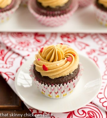 Chocolate Stout Cupcakes with Caramelized White Chocolate Ganache