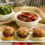 Turkey Sliders with Roasted Tomatoes