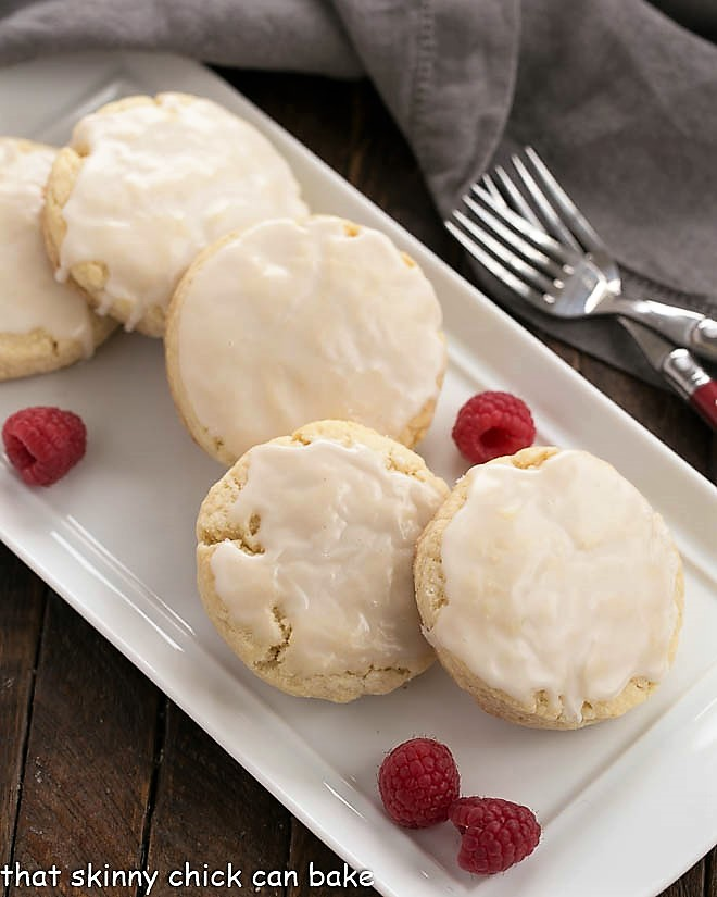Tray of the best scone recipe with raspberries to garnish