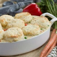 Chicken Pot Pie with Goat Cheese Biscuits