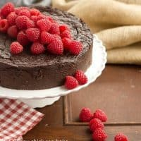 Flourless Chocolate Kahlua Cake