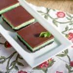 Grasshopper Cheesecake Bars #SundaySupper