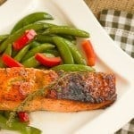 Maple-Mustard Glazed Salmon #RecipesfromtheHeart
