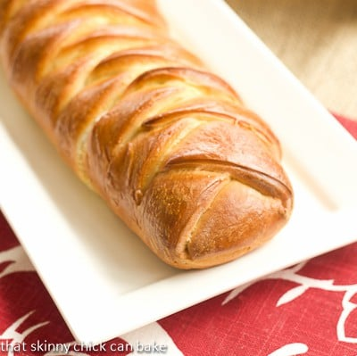 Plaited Easter Bread with Cream Cheese Filling