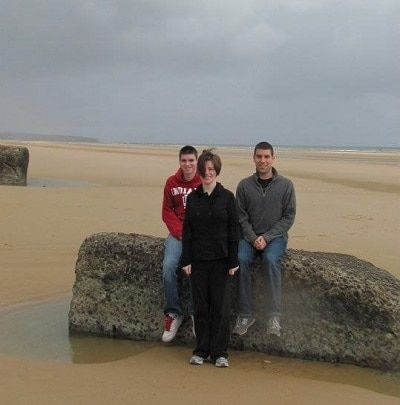 Kids on Normandy Beach, France