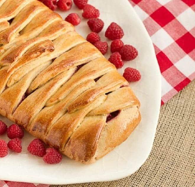 Braided Raspberry Danish - an elegant, plaited breakfast pastry