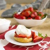Strawberry Shortcake With White Chocolate Whipped Cream