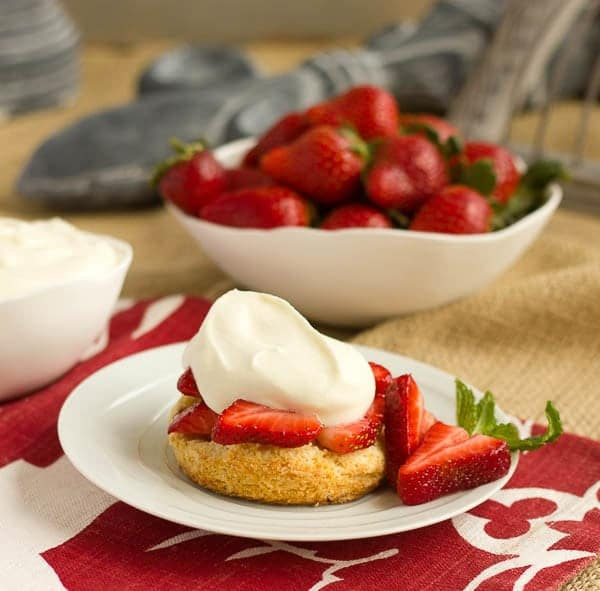 Strawberry Shortcakes with White Chocolate Mousse