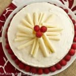 Vanilla Cake with White Chocolate Buttercream #SundaySupper #AprilShowers