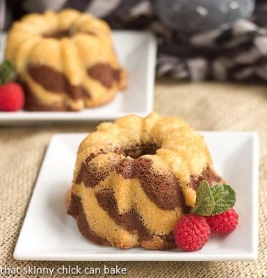 Mini Zebra Bundt Cakes