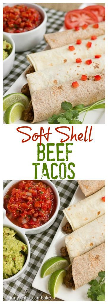 Soft Shell Tacos {Homemade Beef Tacos} - Easy as can be plus you can tailor the spice to your liking!