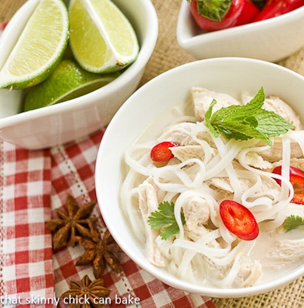 Spicy vietnamese chicken noodle soup - French cuisine influences ...