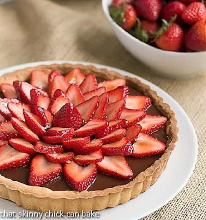 Strawberry Topped Chocolate Tart