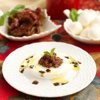 Off Season Caprese Salad | A marvelous combination of fresh mozzarella, sun dried tomatoes and basil