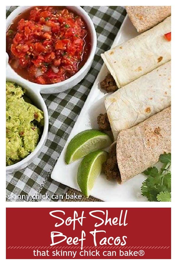 Soft Shell Tacos {Homemade Beef Tacos} text and photo collage