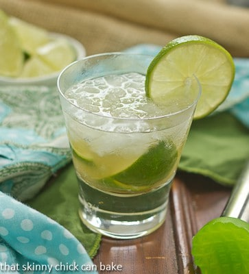 Brazilian Caipirinha Cocktail! Lime, raw sugar and Brazilian rum marry in this exotic cocktail!