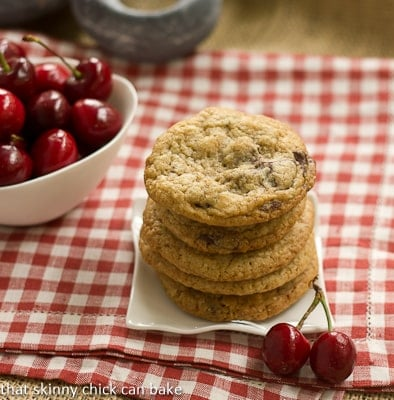 Cherry Cookies with White and Dark Chocolate Chunks #ChocolateParty