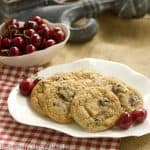 Cherry Cookies with White and Dark Chocolate Chunks #ChocolateParty