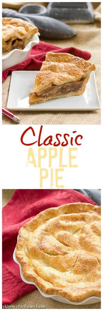 Classic Apple Pie | Sweet, cinnamon spiced apples in a flaky pastry crust