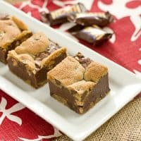 Fudge and Toffee Filled Chocolate Chip Bars