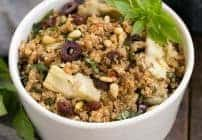 Mediterranean Quinoa Salad with Olives, Basil and Sun-dried Tomatoes #SundaySupper