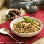 Quinoa with Olives, Basil and Sun-dried Tomatoes #SundaySupper