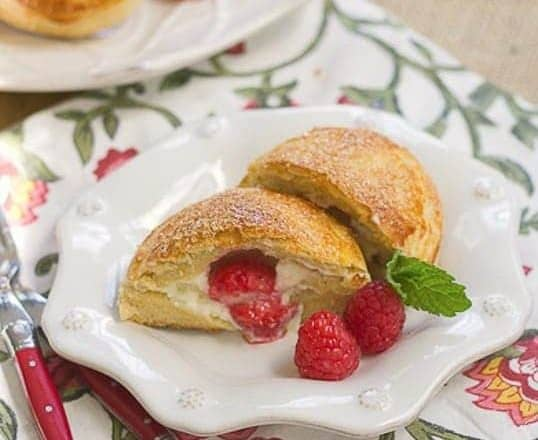 Raspberry Cream Cheese Brioche Pockets