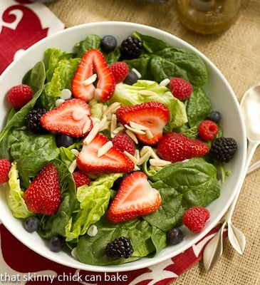 triple berry summer salad 02 triple berry salad with but the salad