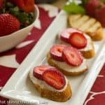 Goat Cheese and Strawberry Tartine