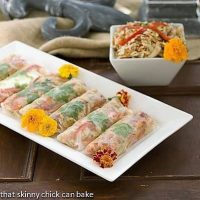 Asian Cole Slaw Spring Rolls