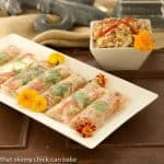 Asian Cole Slaw Spring Rolls #TheSaladBar