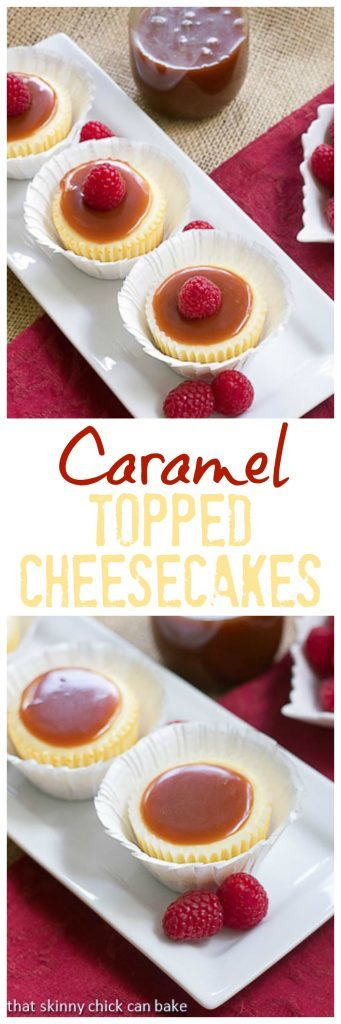 Caramel Topped Mini Cheesecakes | An exquisite combination of flavors and textures