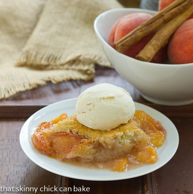 Classic Peach Cobbler | A timeless dessert that's perfect with ripe summer peaches