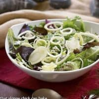 Fennel and Gorgonzola Salad in a white salad bowl